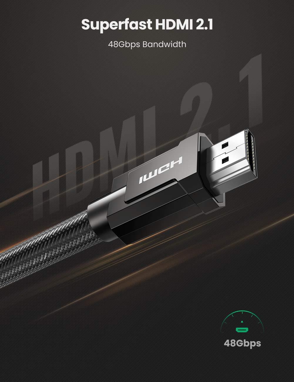 Dây cáp HDMI 2.1 dài 2m hỗ trợ 8K@60hz Ugreen 70319