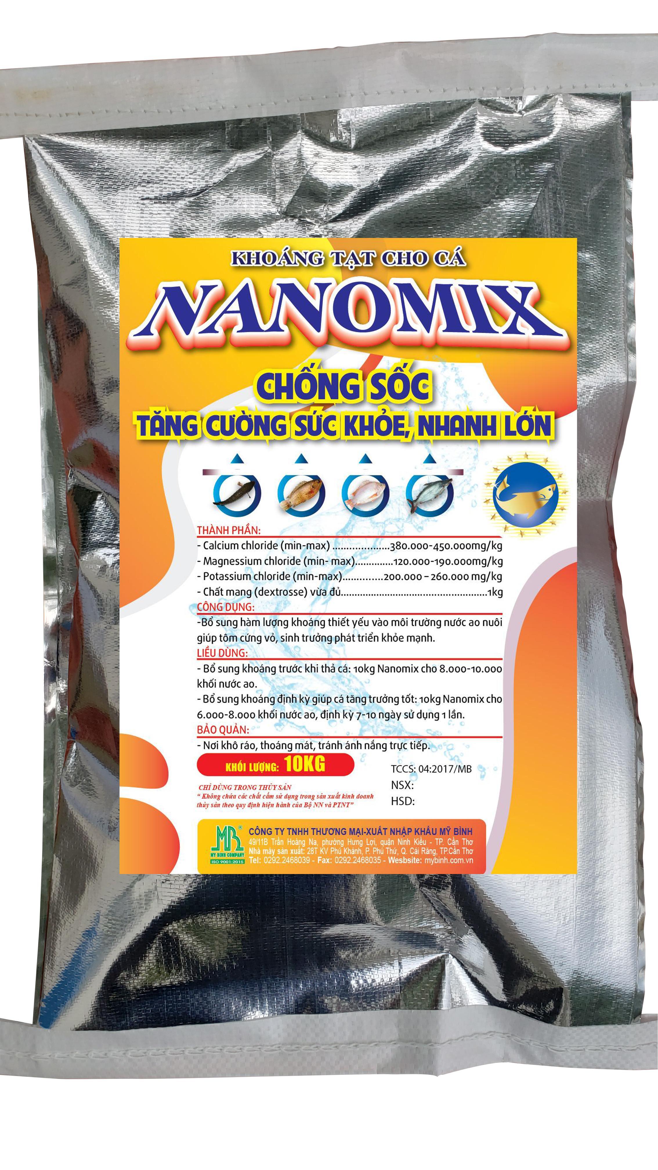 NANOMIX - Chống sốc, tăng cường sức khỏe, giúp cá nhanh lớn