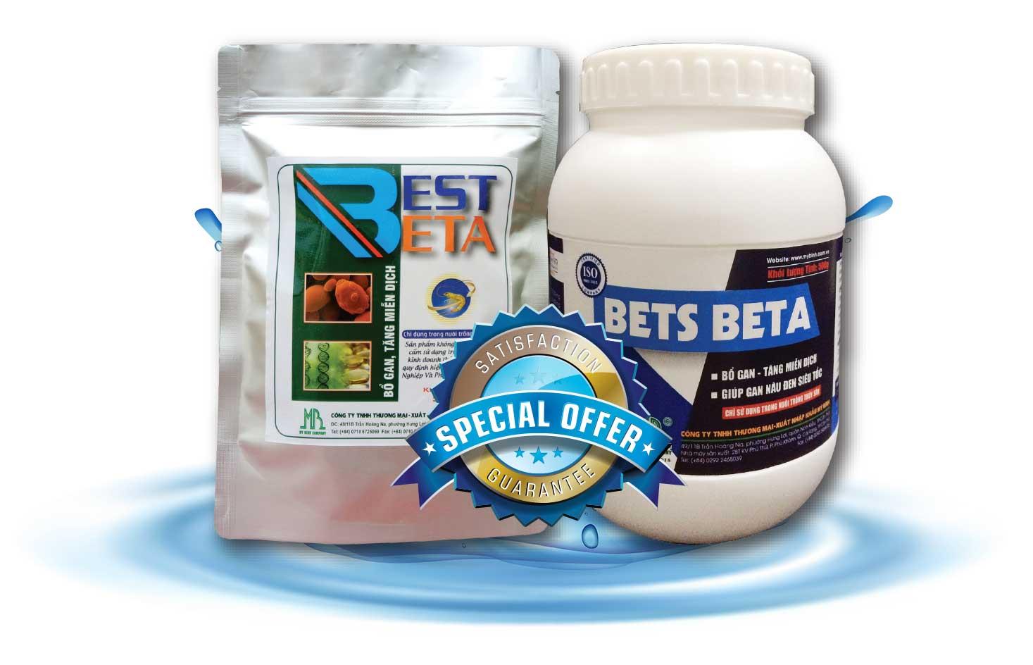 BETS BETA _ Thuốc phòng bệnh gan, phục hồi tế bào gan cho tôm
