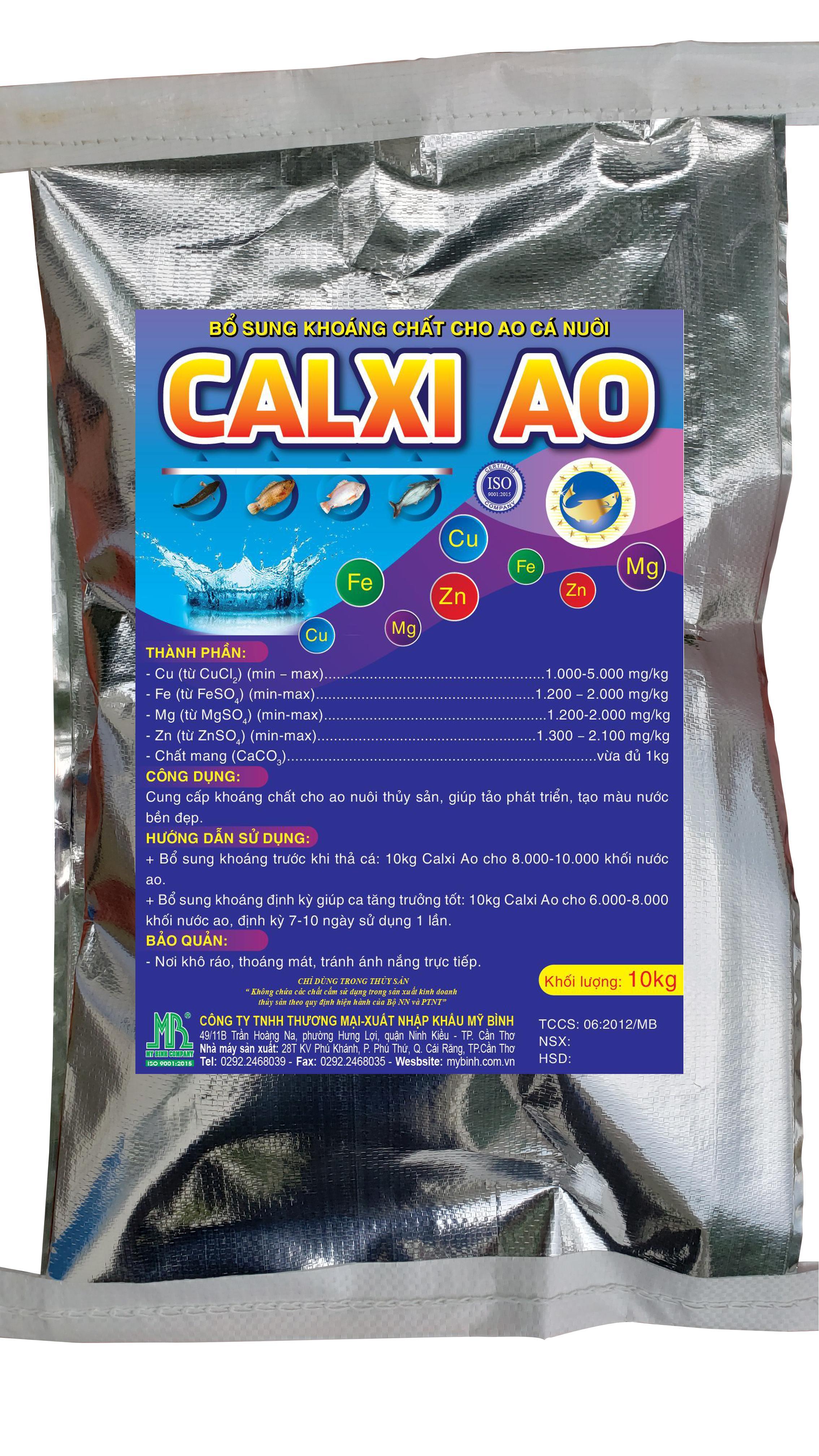 CALXI AO - Bổ sung khoáng chất cho ao nuôi cá