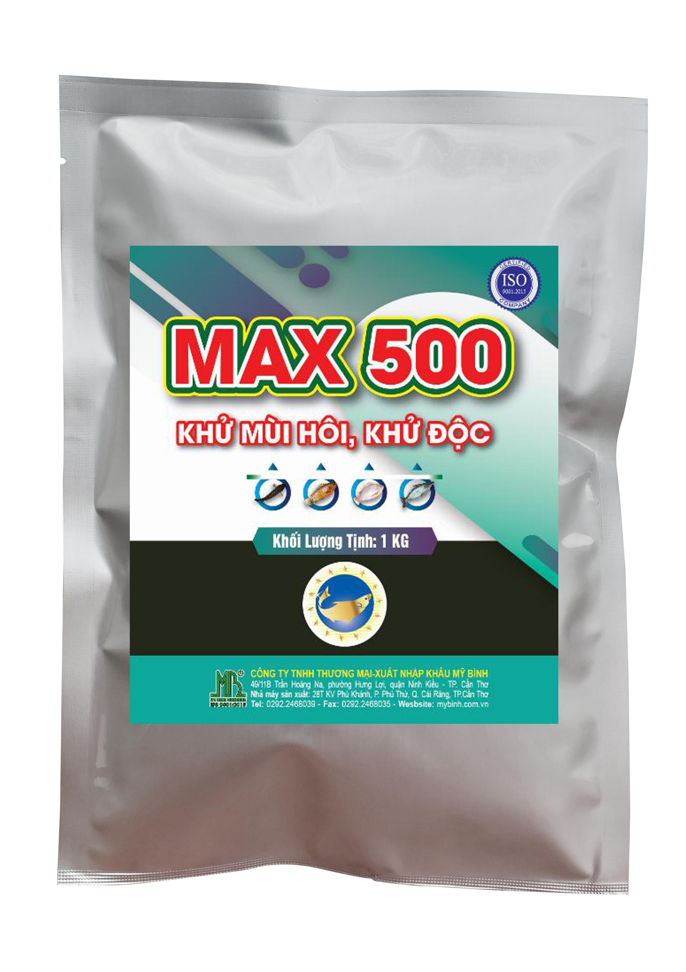 Max 500 - Khử mùi hôi, khử độc trong ao nuôi.