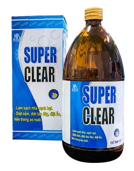 SUPER CLEAR -  Diệt nấm nhớt rong rêu ao tôm