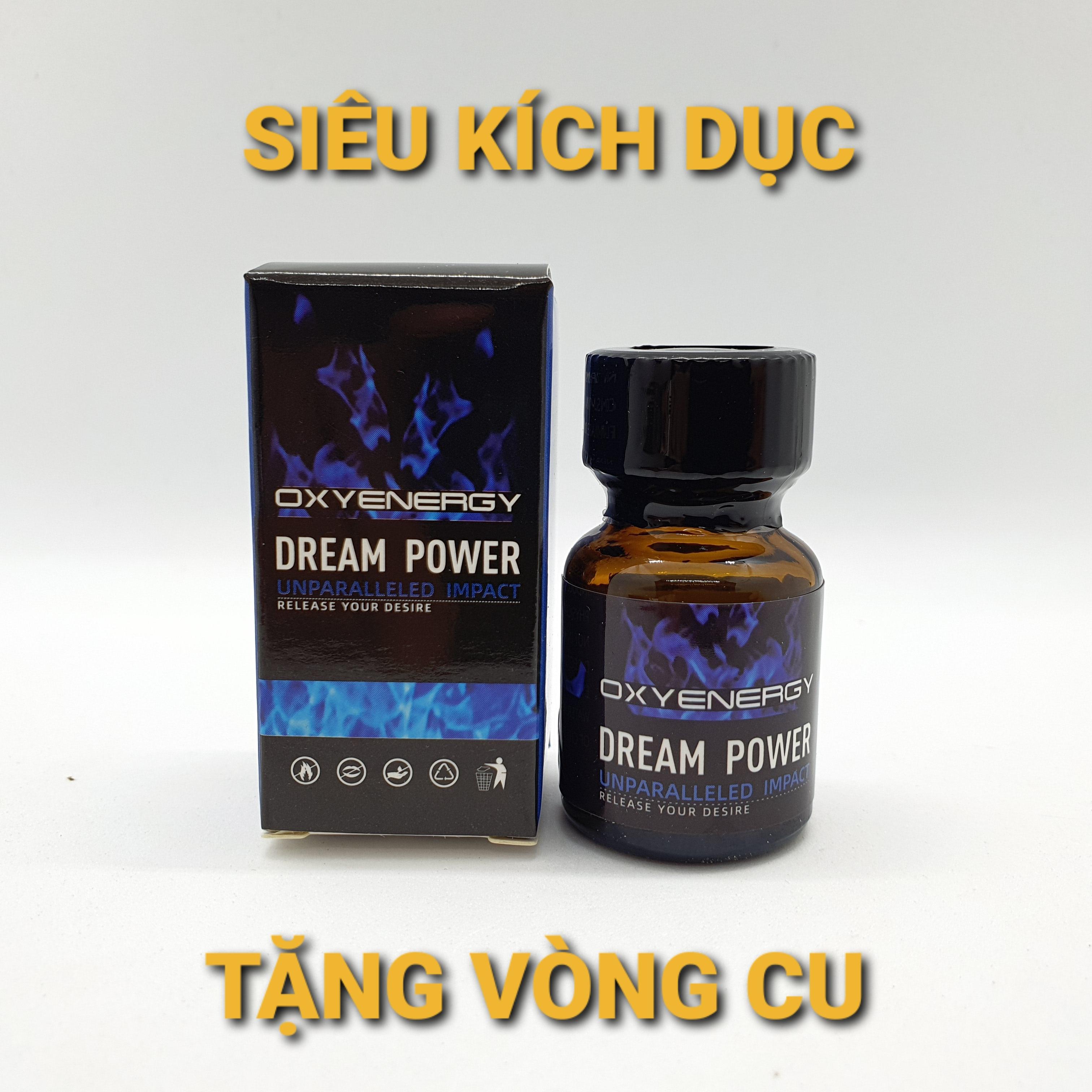 POPPERSIÊU KÍCH DỤC DREAM POWER 10ml Tặng 1 bộ vòng cu lâu xuất tinh.