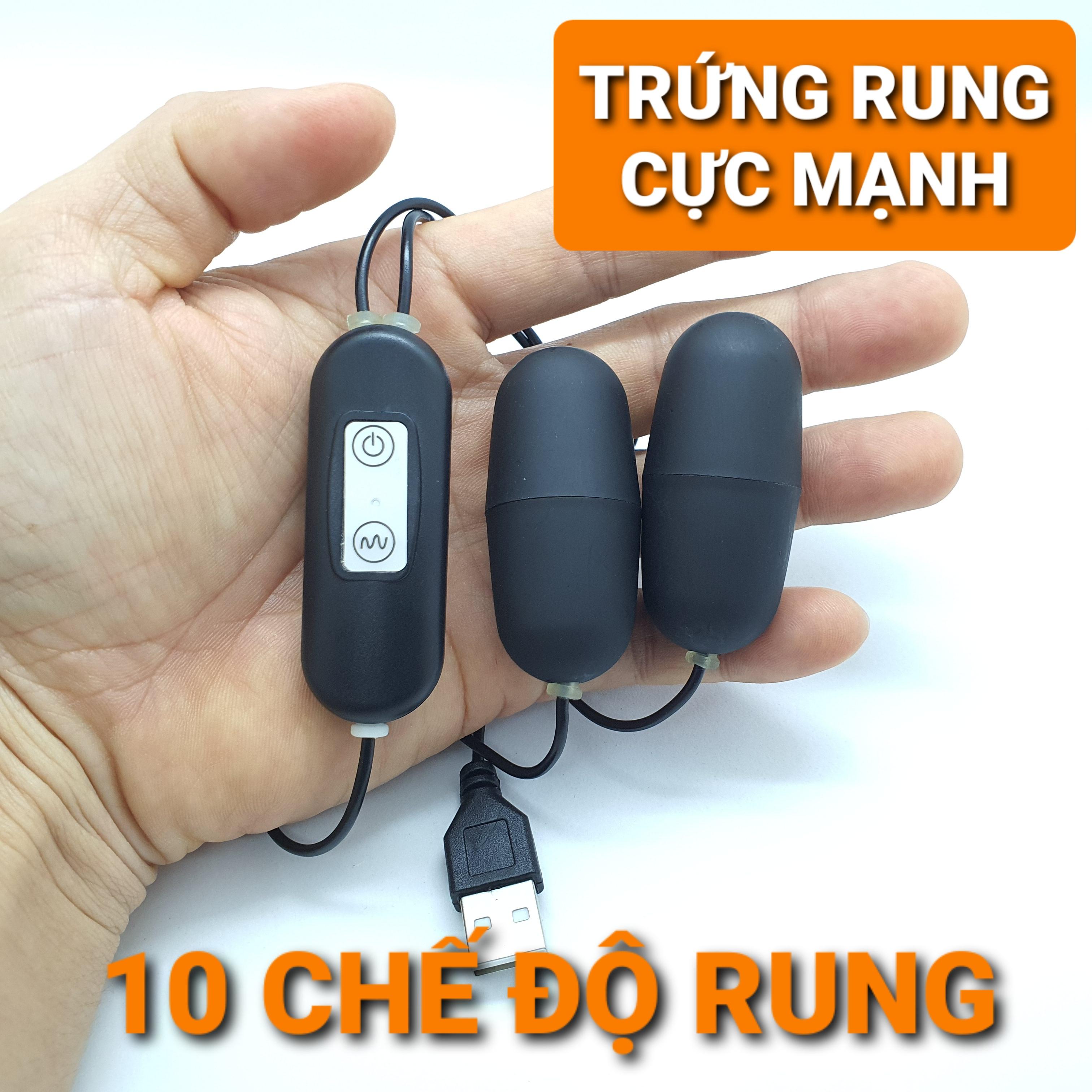 2 TRỨNG RUNG USB RUNG CỰC MẠNH - TẶNG GEL