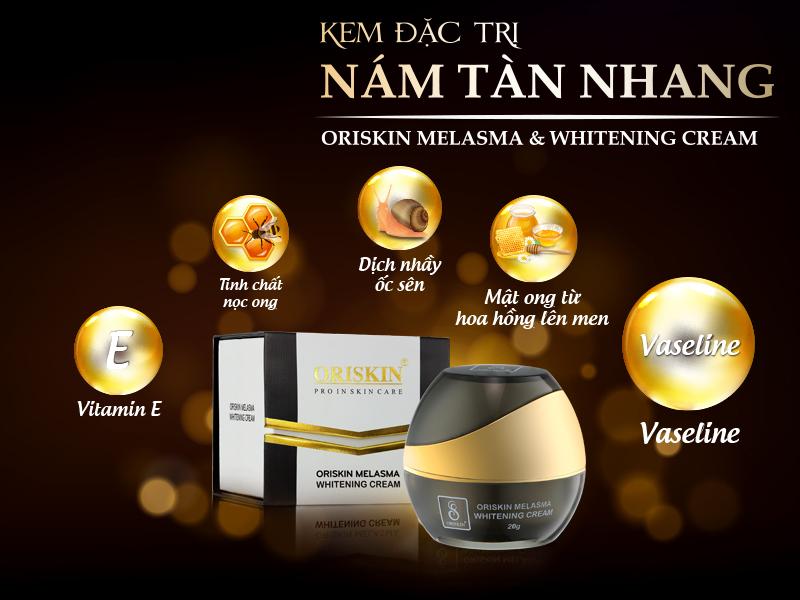 Oriskin Melasma & Whitening Cream - Kem đặc trị nám ORISKIN