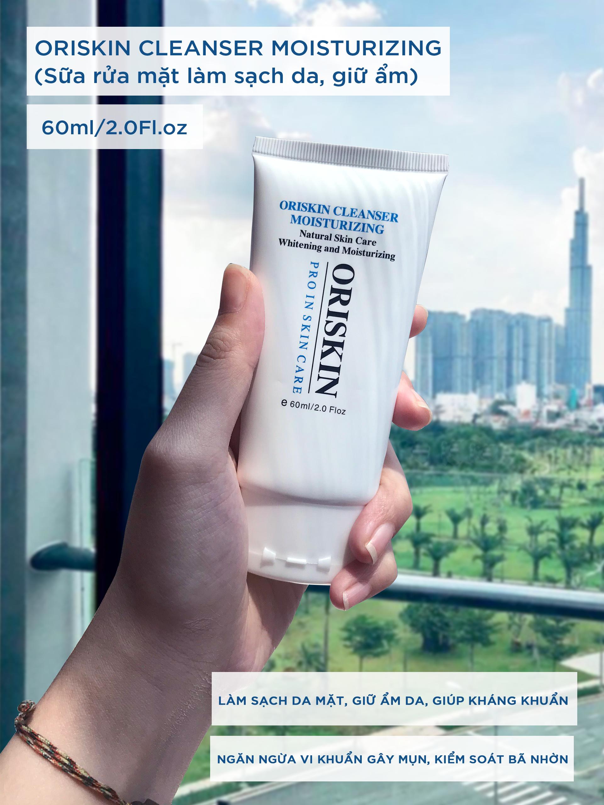 Sữa Rửa Mặt Làm Sạch Da, Oriskin Cleanser Moisturizing ( Size 60ml )
