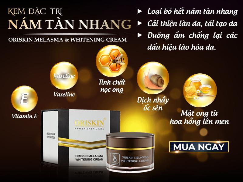 Oriskin Melasma & Whitening Cream - Kem đặc trị nám ORISKIN hộp Mini
