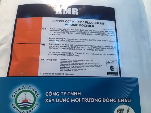 Polymer Anion KMR A1110 trợ lắng, keo tụ