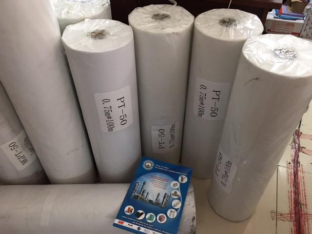 giấy lọc MGPT 0.75 x 100m, 50g/ m2 lọc cặn máy mài, máy cắt, lọc hóa chất