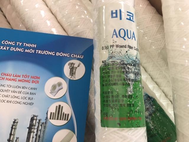Lõi sợi 0.5 micron 30 inch, Lõi sợi quấn, lõi lọc chỉ Aqua Hàn Quốc