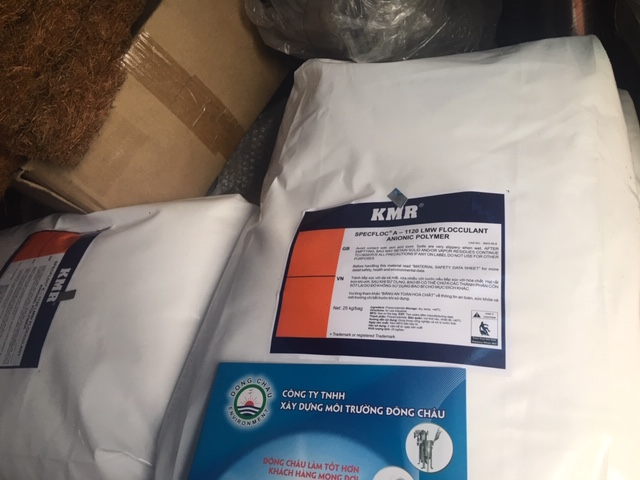 A1120 KMR Polymer Anion trợ lắng, keo tụ xử lý nước của Hàn Quốc