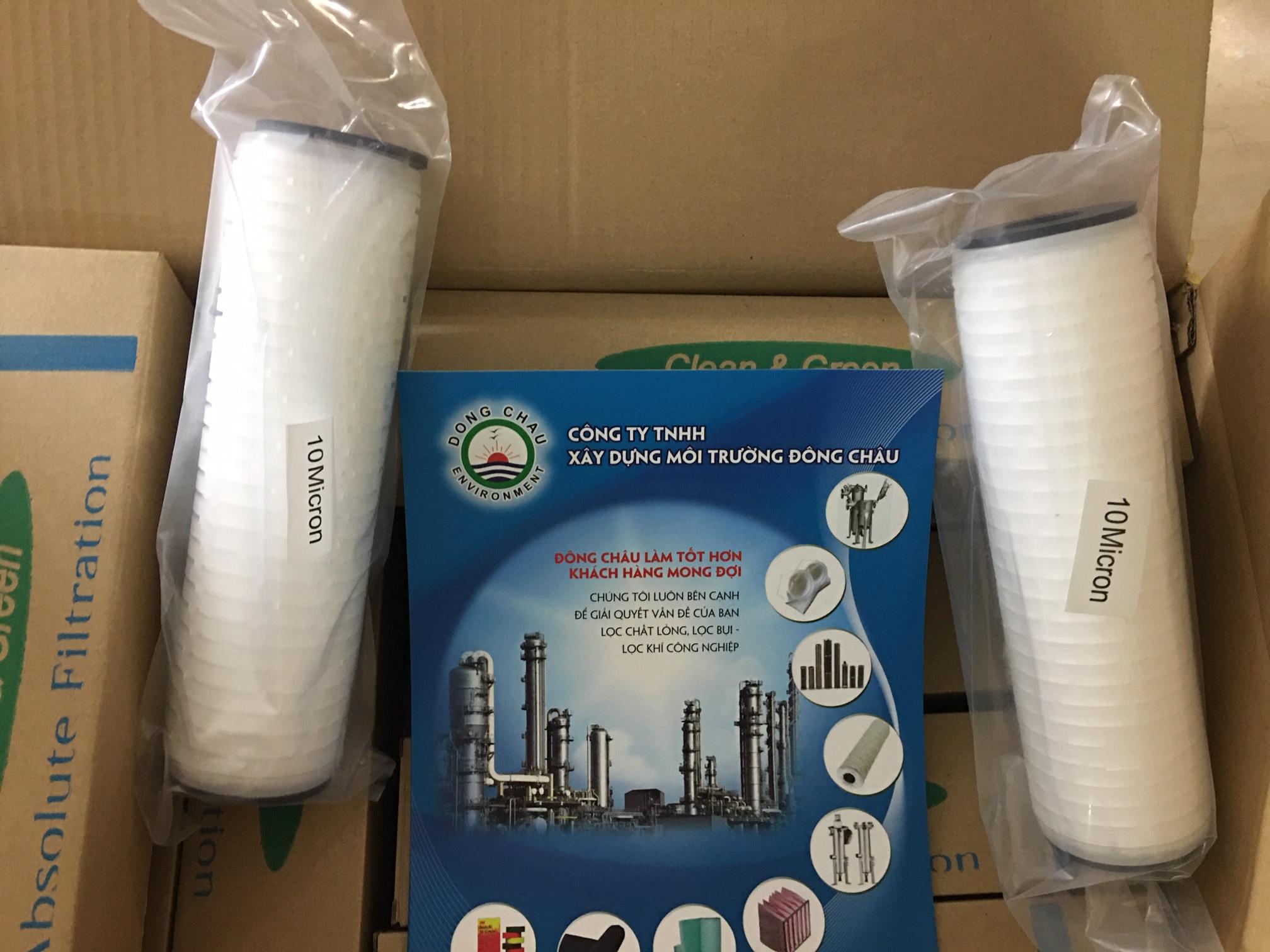 Giấy xếp pleat tăng diện tích bề mặt giữ được nhiều cặn thời gian sử dụng lâu