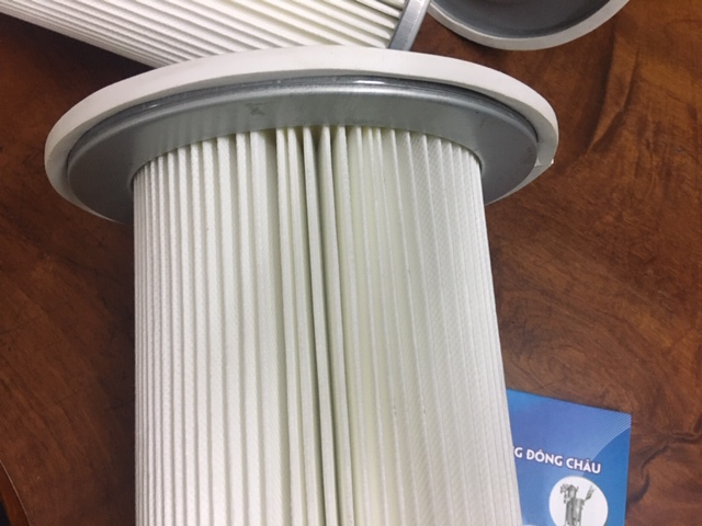 Phin lọc khí có vành, có mâm chất liệu Polyester