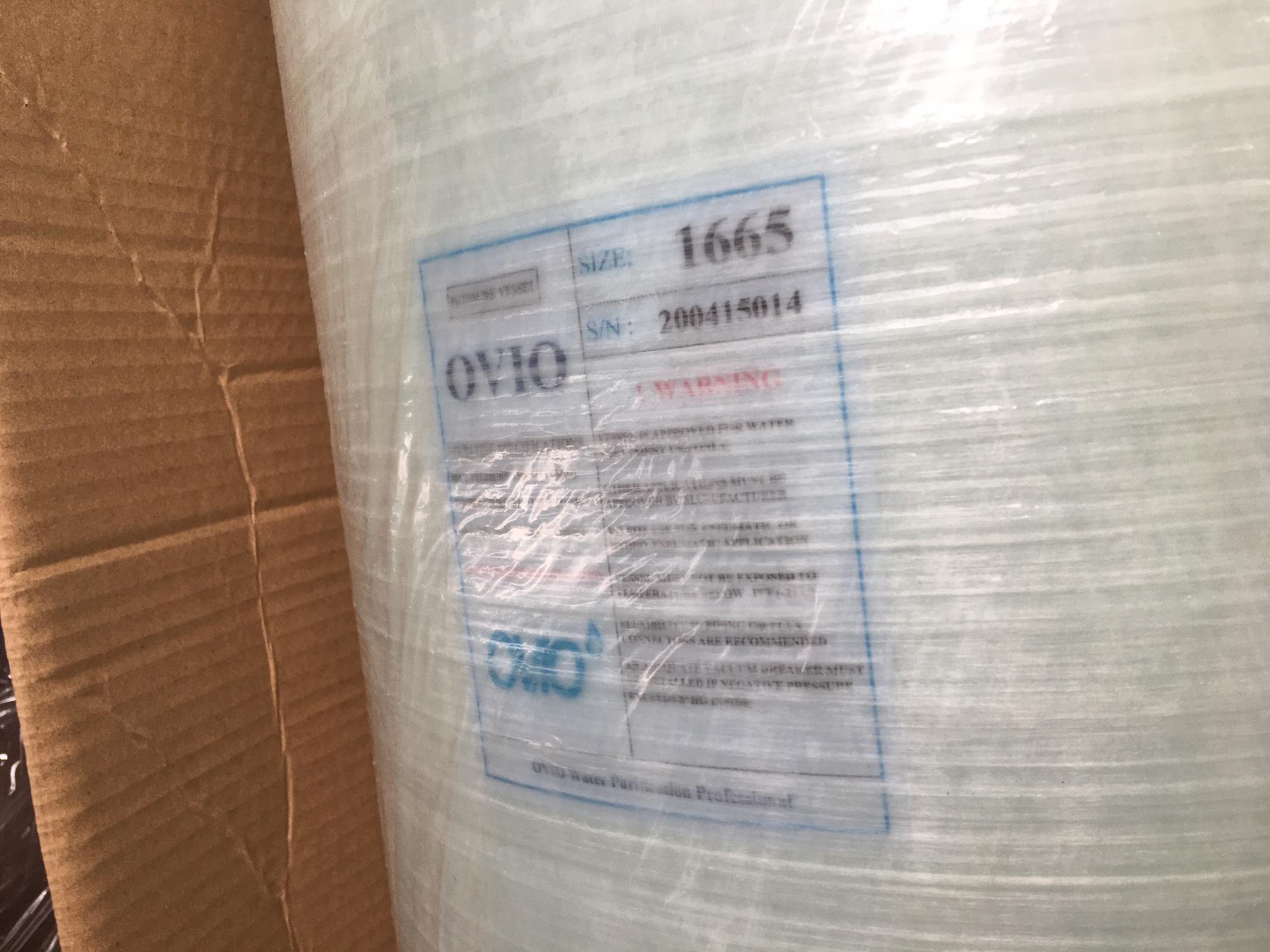 Cột lọc nước 16*65 Ovio composite  chứa than cát sỏi hạt nhựa làm mềm