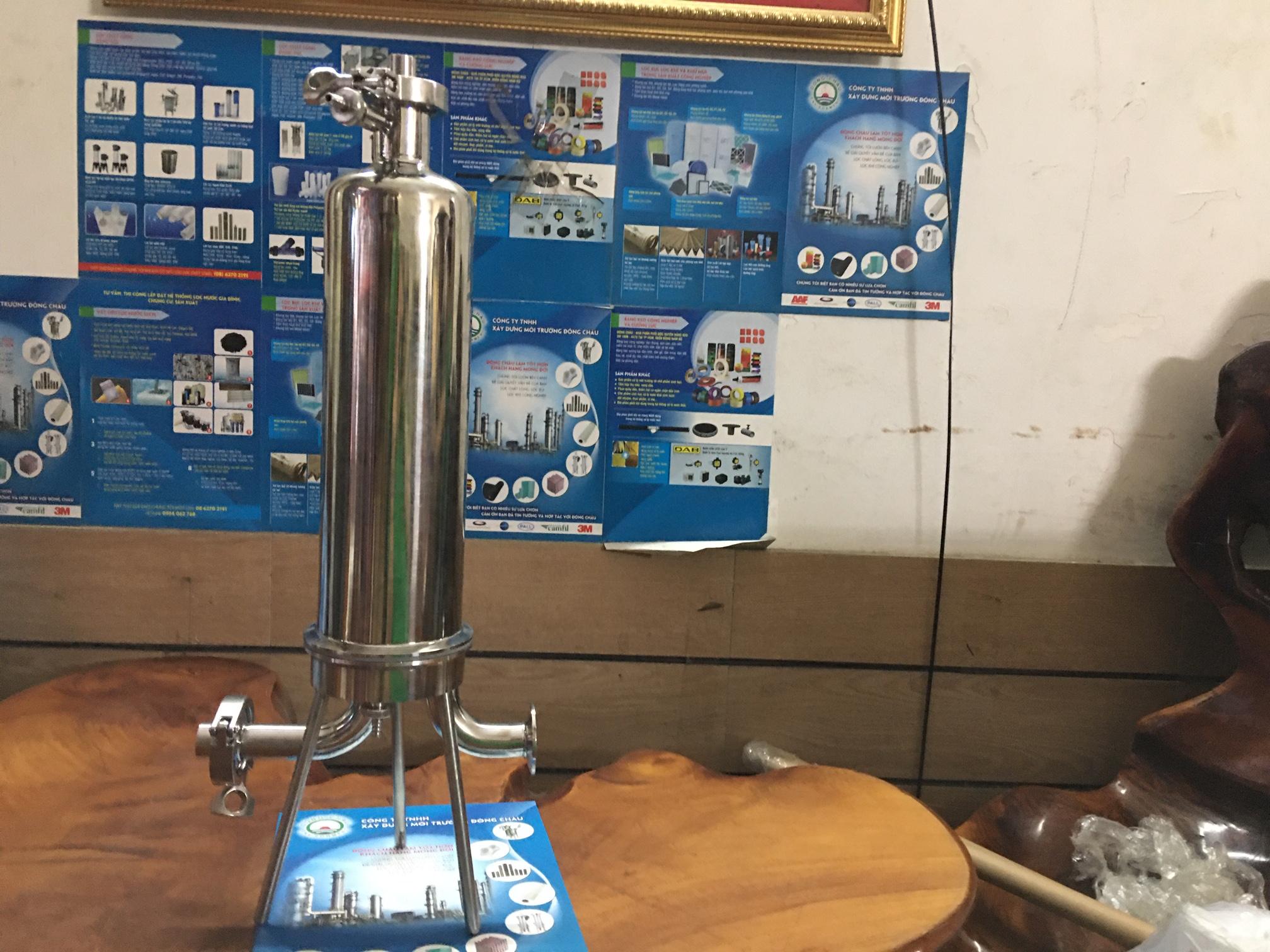 Bình lọc khí 10 inch nối Clamp