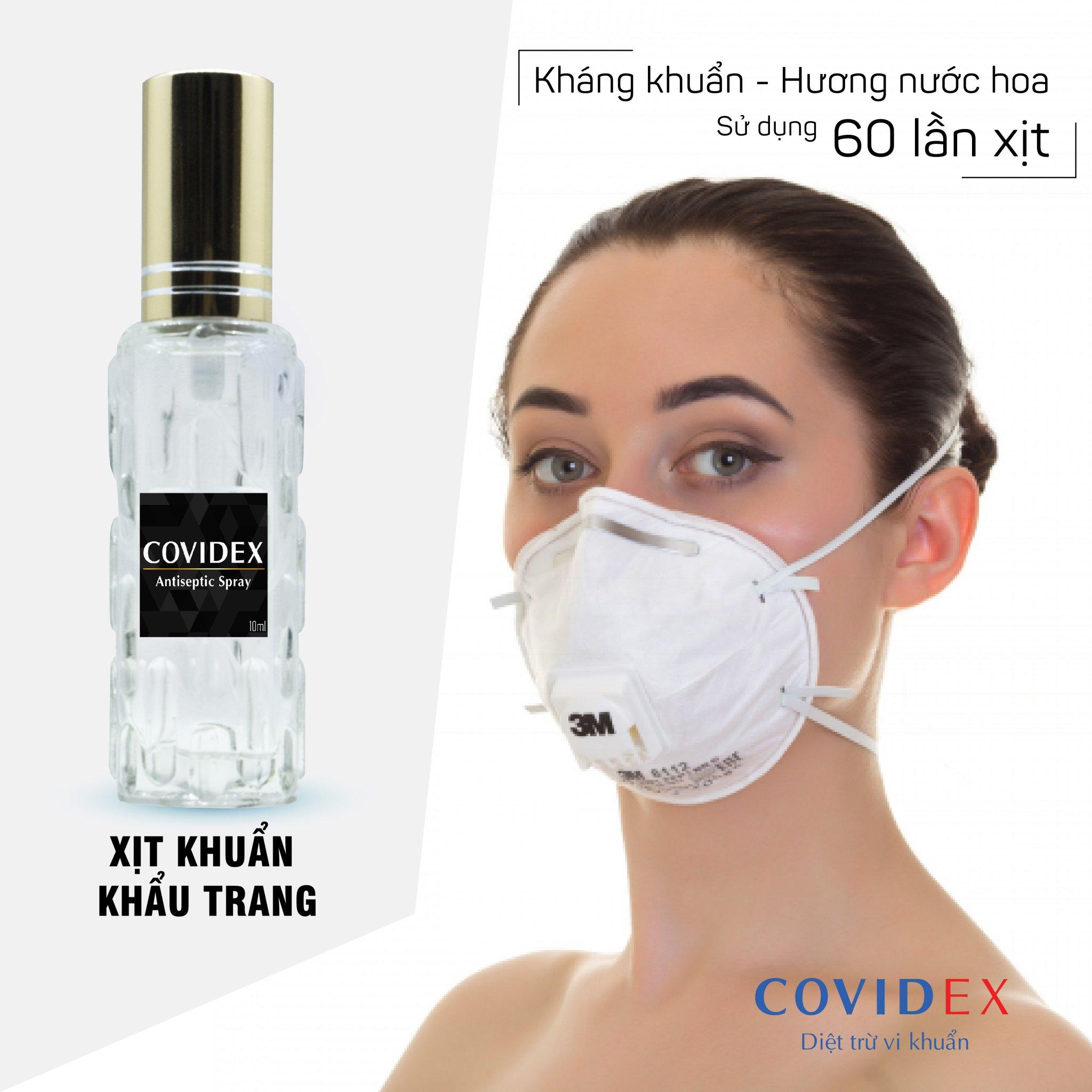 Chai xịt khử khuẩn cho khẩu trang - Covidex hương nước hoa