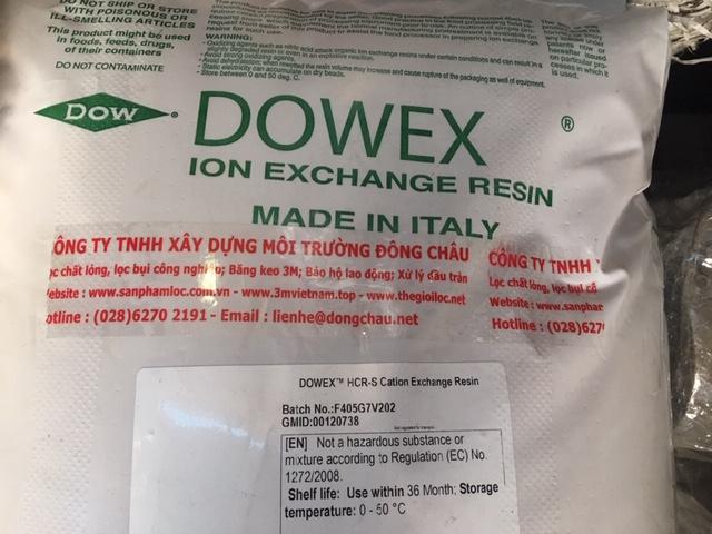 HCR-S hạt nhựa Dowex làm mềm nước, loại bỏ ion dương