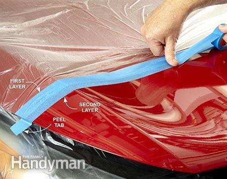 Băng keo 1 mặt màng Nylon che bụi, chắn sơn 3M 7021
