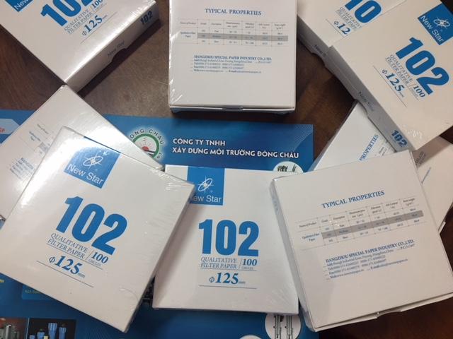 Giấy lọc Newstar 102-125mm, lọc cặn hóa chất, phòng thí nghiệm