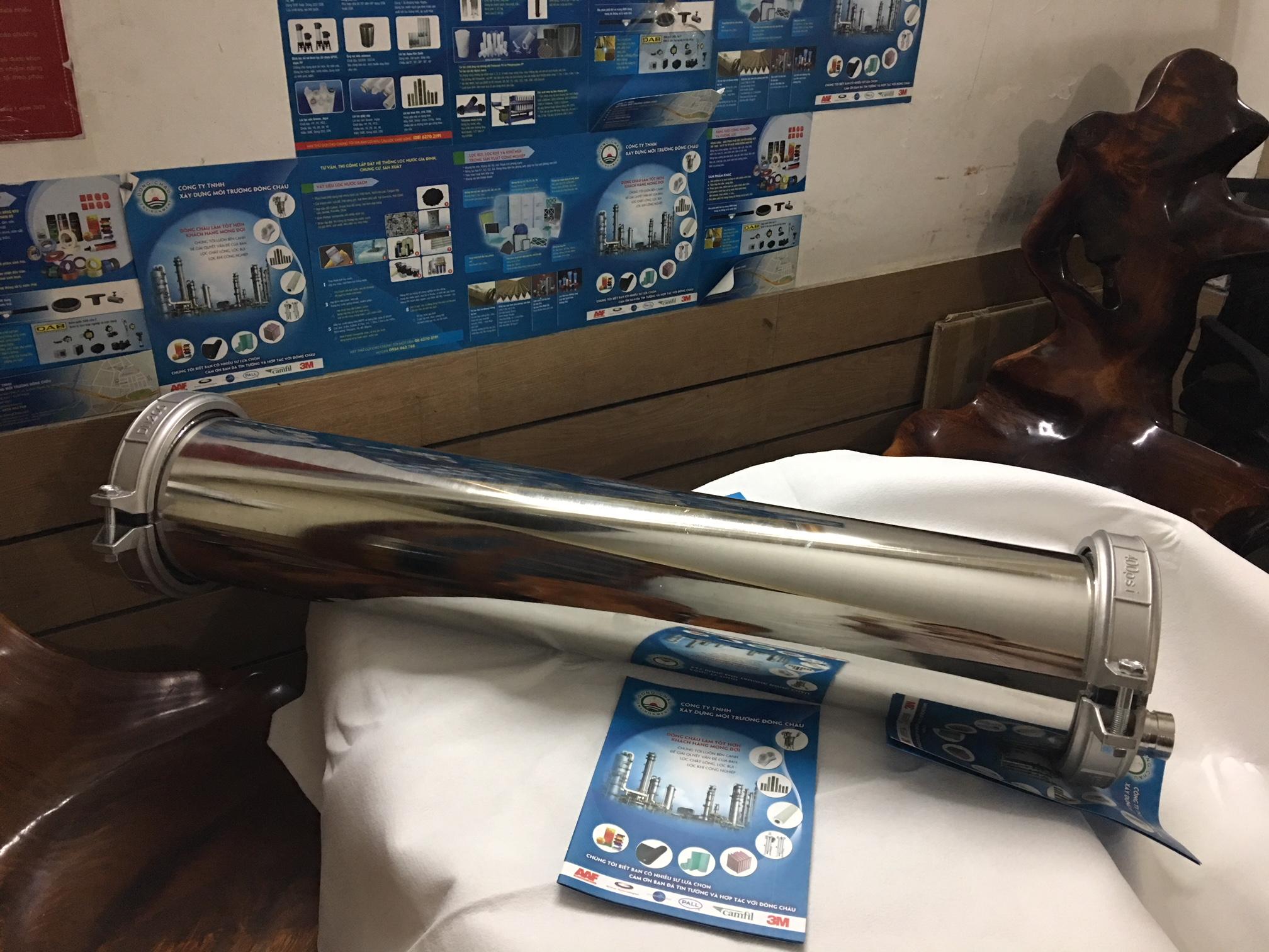 Vỏ màng UF 8040 inox 304, 400 psi