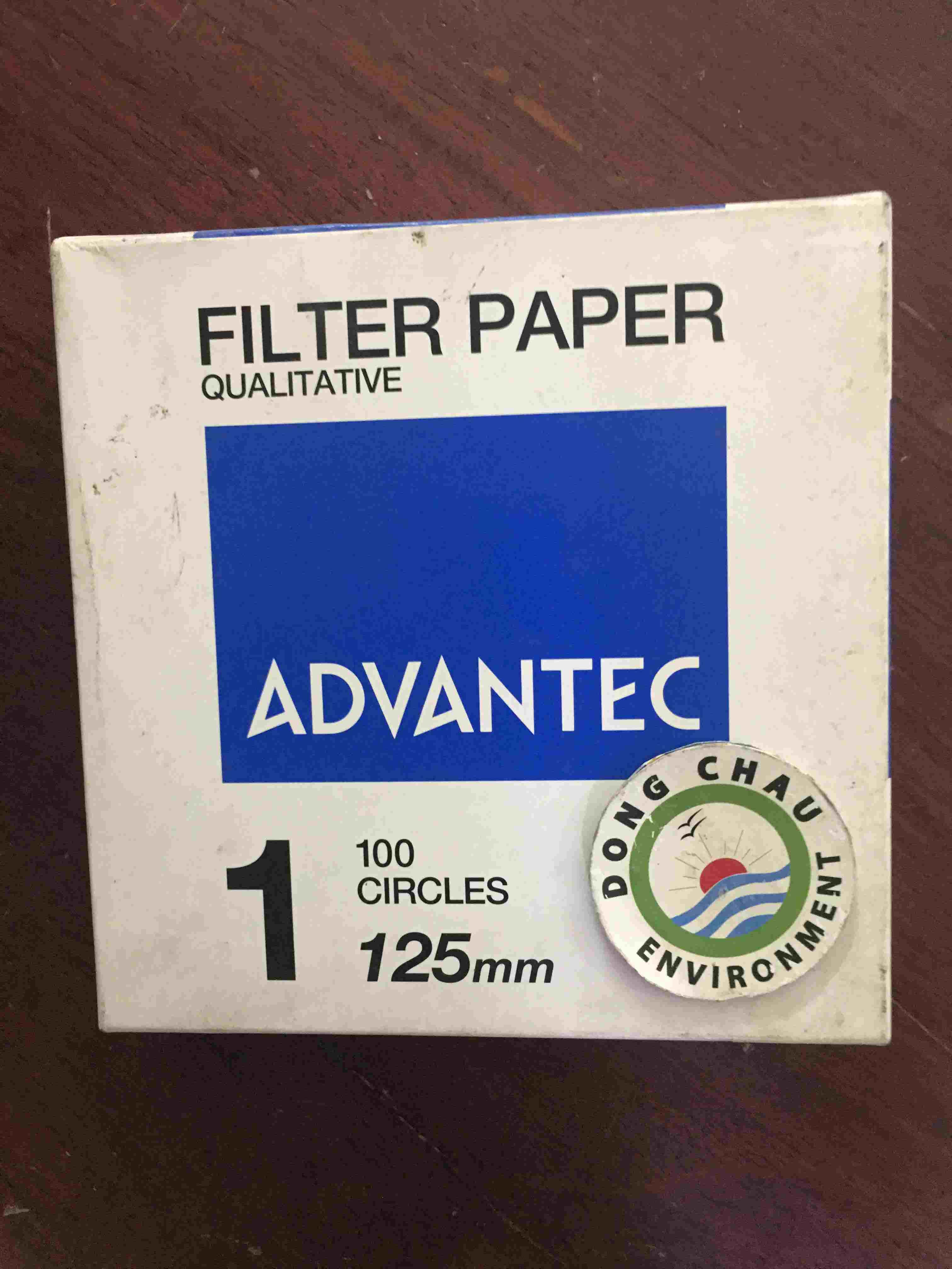 Giấy Lọc Phòng Thí Nghiệm Advantec Số 1 Đường Kính 125mm