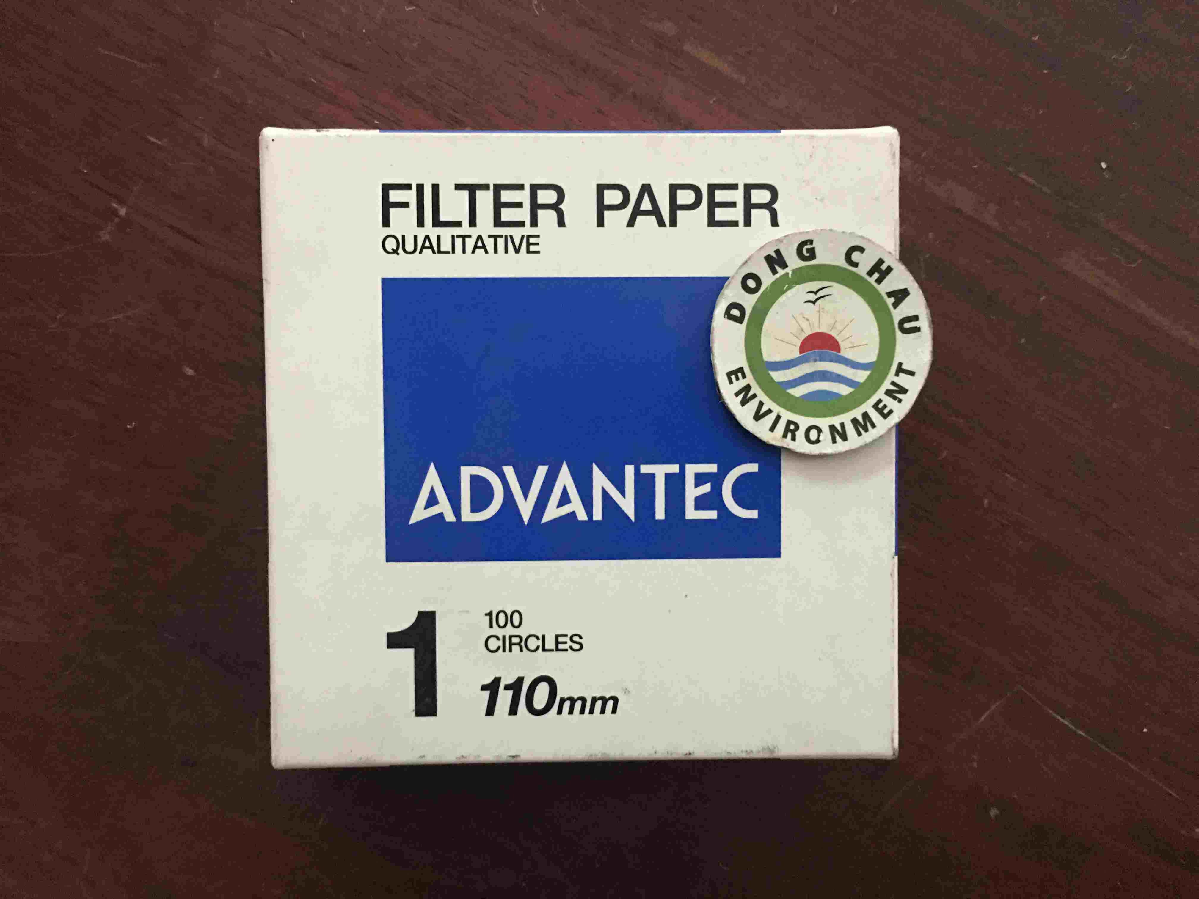 Giấy Lọc Phòng Thí Nghiệm Advantec Số 1 Đường Kính 110mm