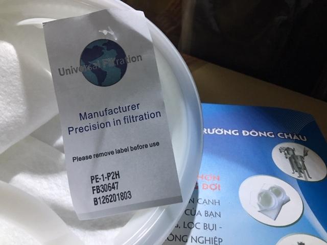 PE-1-P2H Túi lọc Polyester size 2 lọc nước, lọc hóa chất