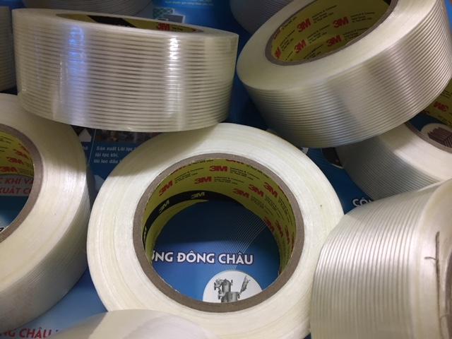 Băng keo sợi thủy tinh dùng cho đóng gói Pallet 3M 897