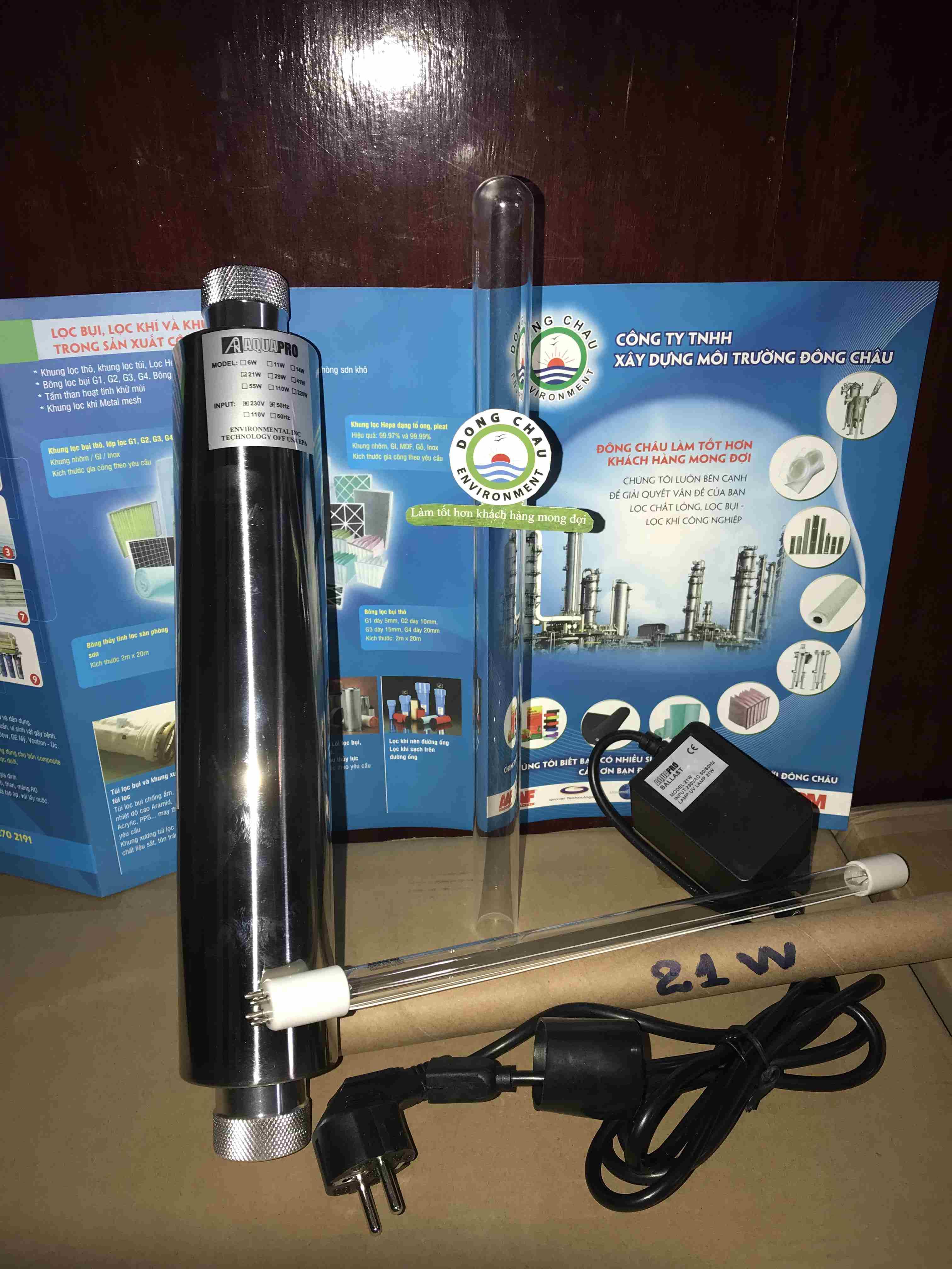 Bộ đèn khử trùng UV 21W