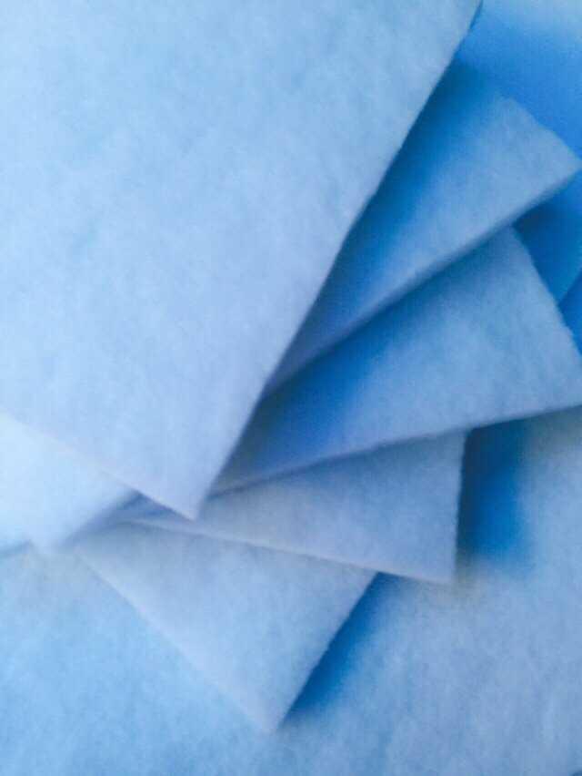Bông lọc tổng hợp màu xanh trắng 10mm