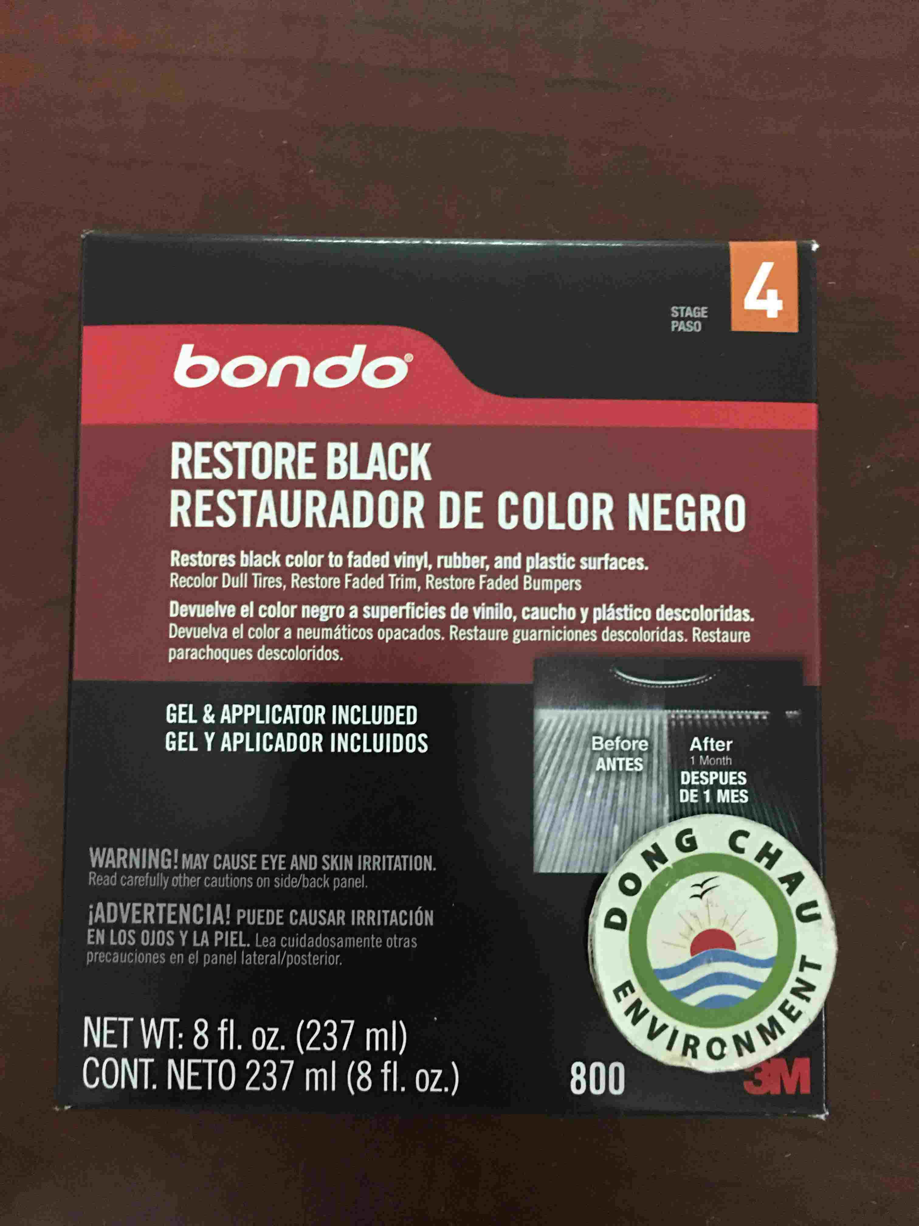 Chai Bondo phục hồi màu sơn đen