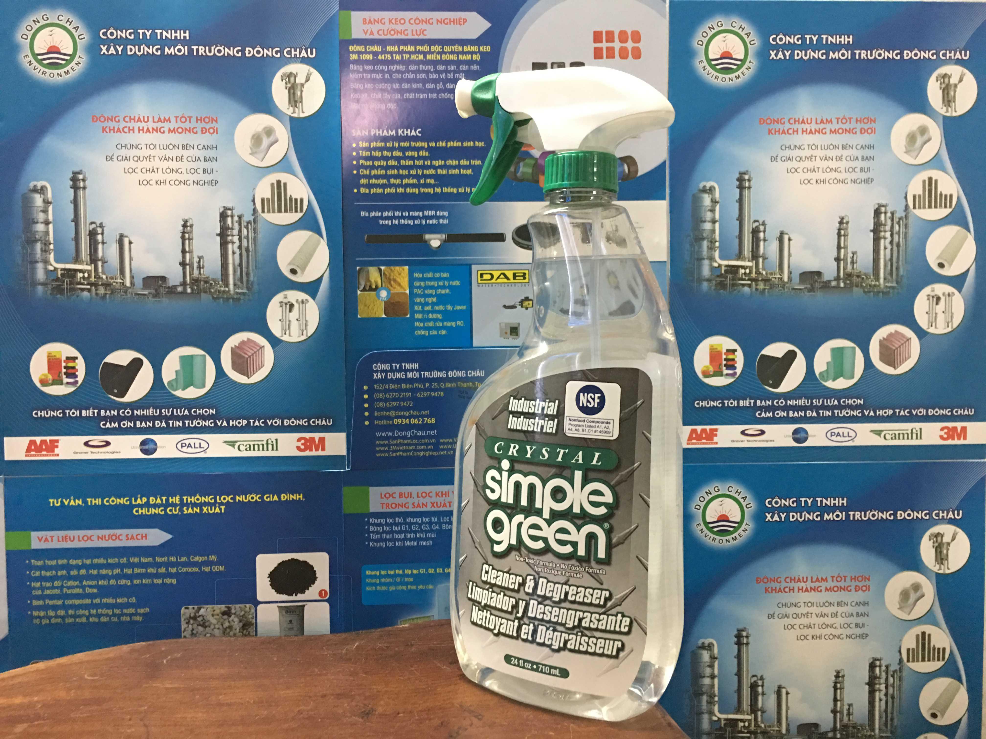 Chai làm sạch, tẩy nhờn Crystal Simple Green