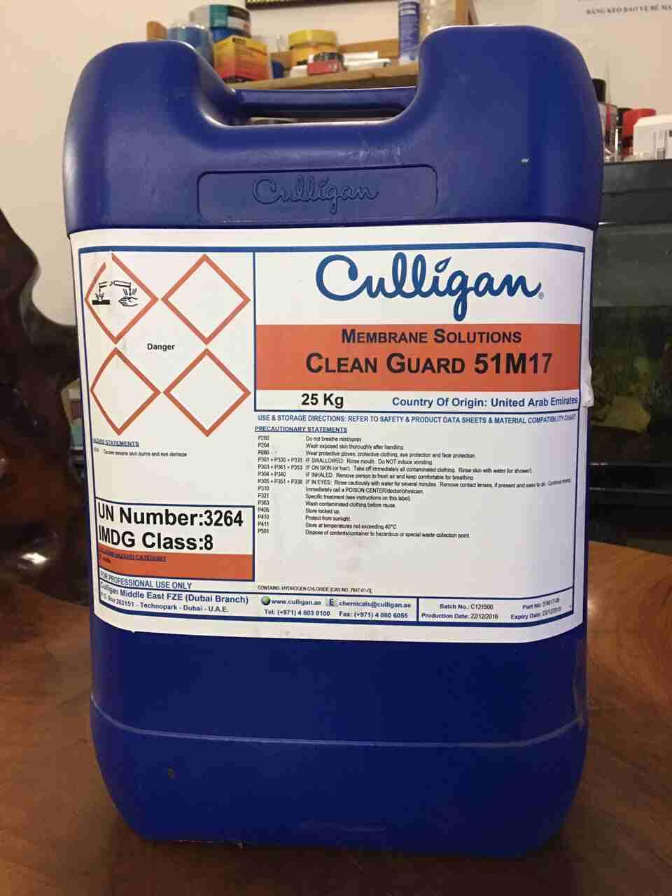 Chất làm sạch chất vô cơ màng RO, UF Culligan Clean Guard 51M17