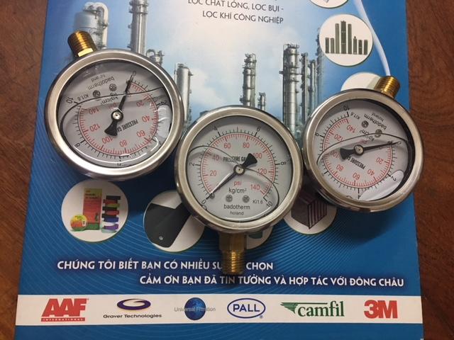 Đồng hồ đo áp suất bình lọc chất lỏng