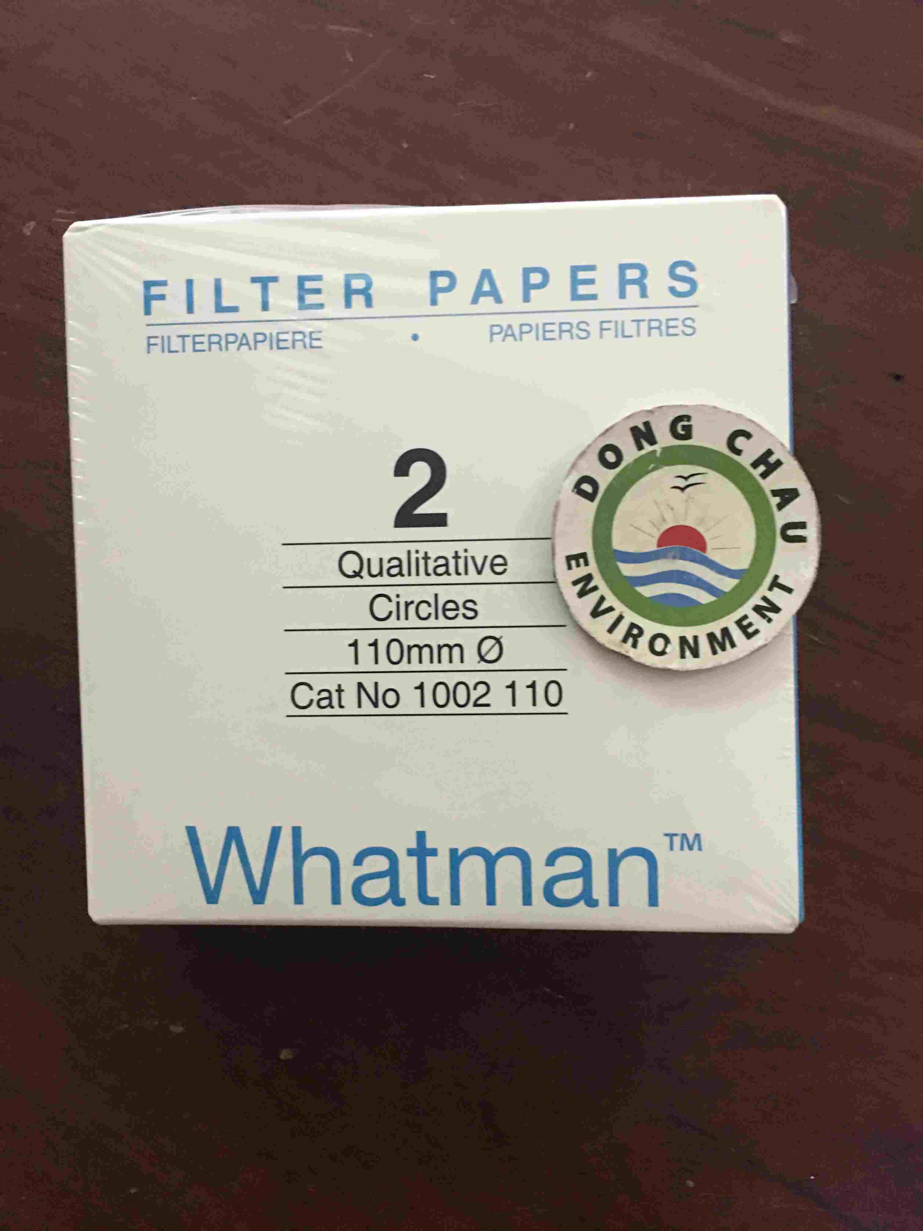 Giấy lọc phòng thí nghiệm whatman số 2 đường kính 110 mm