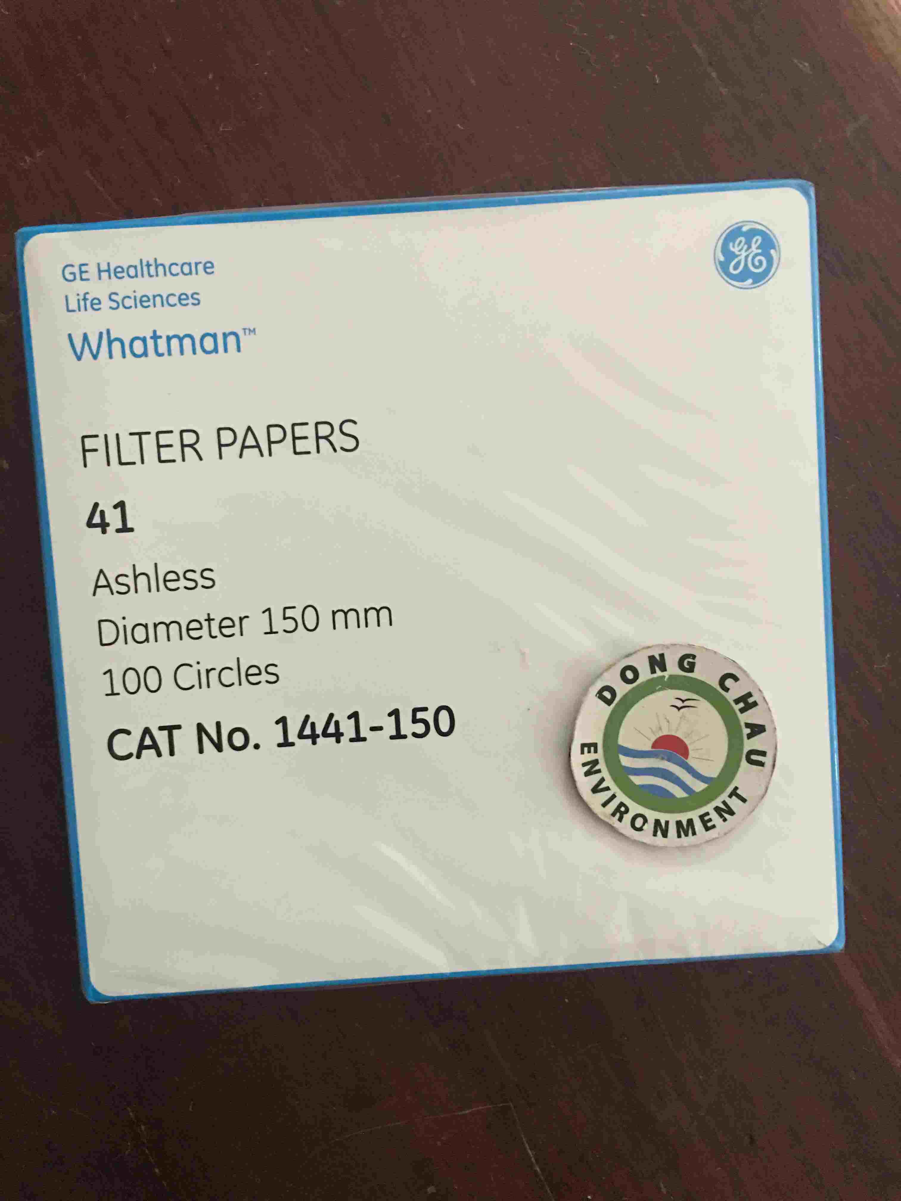 Giấy lọc phòng thí nghiệm Whatman số 41, 150mm