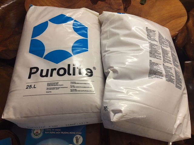 Hạt nhựa trao đổi ion dương C100 Purolite làm mềm nước