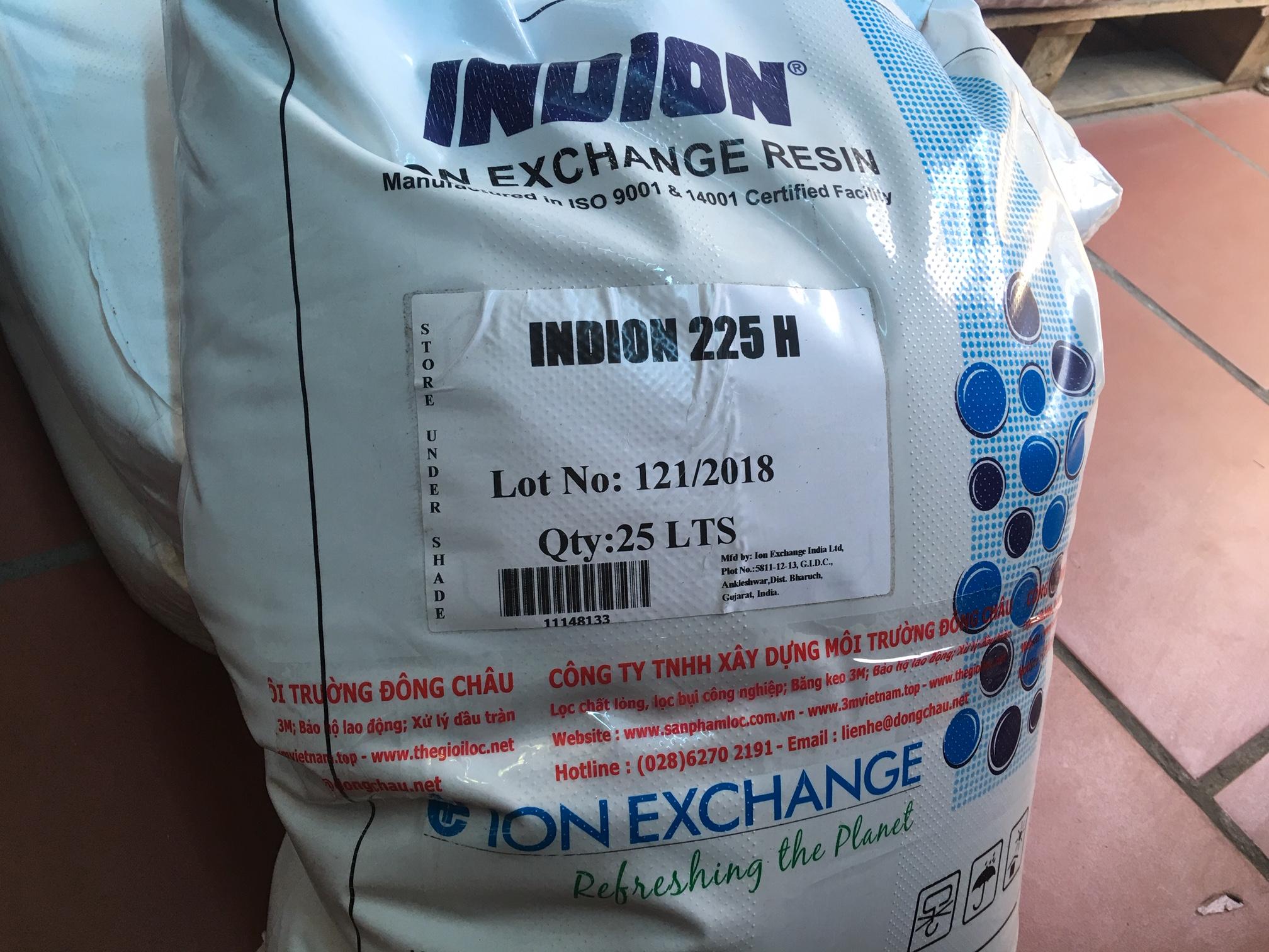 Hạt nhựa trao đổi ion dương Indion Ấn Độ 225 H