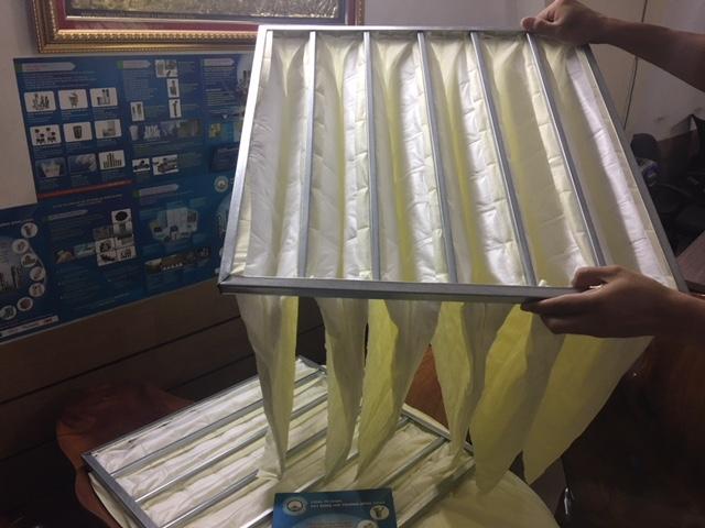 Khung lọc 6 túi F8 màu vàng, khung lọc Medium Pocket