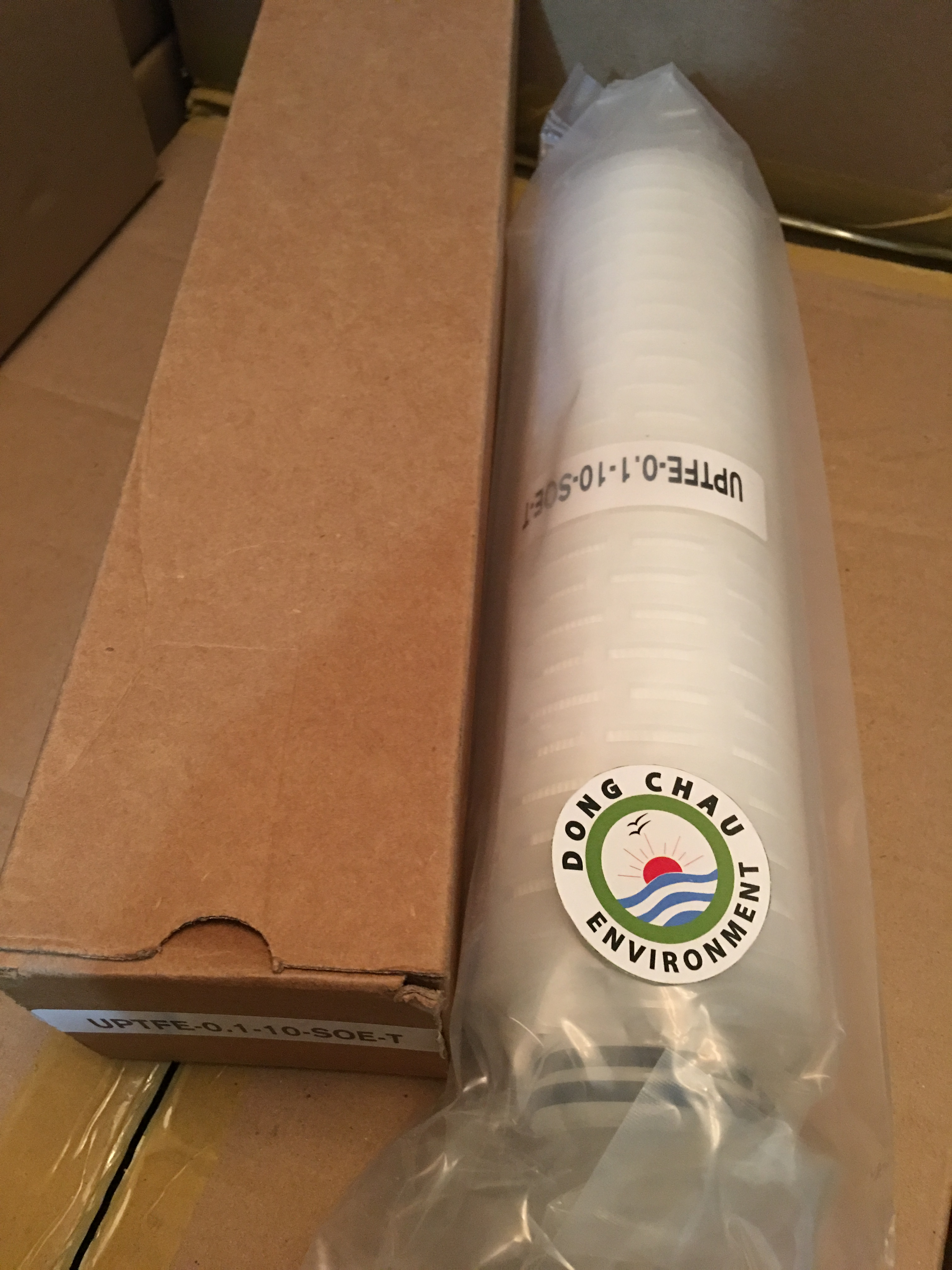 Lõi lọc giấy xếp 0.1 micron 10 inch UPTFE Singapore