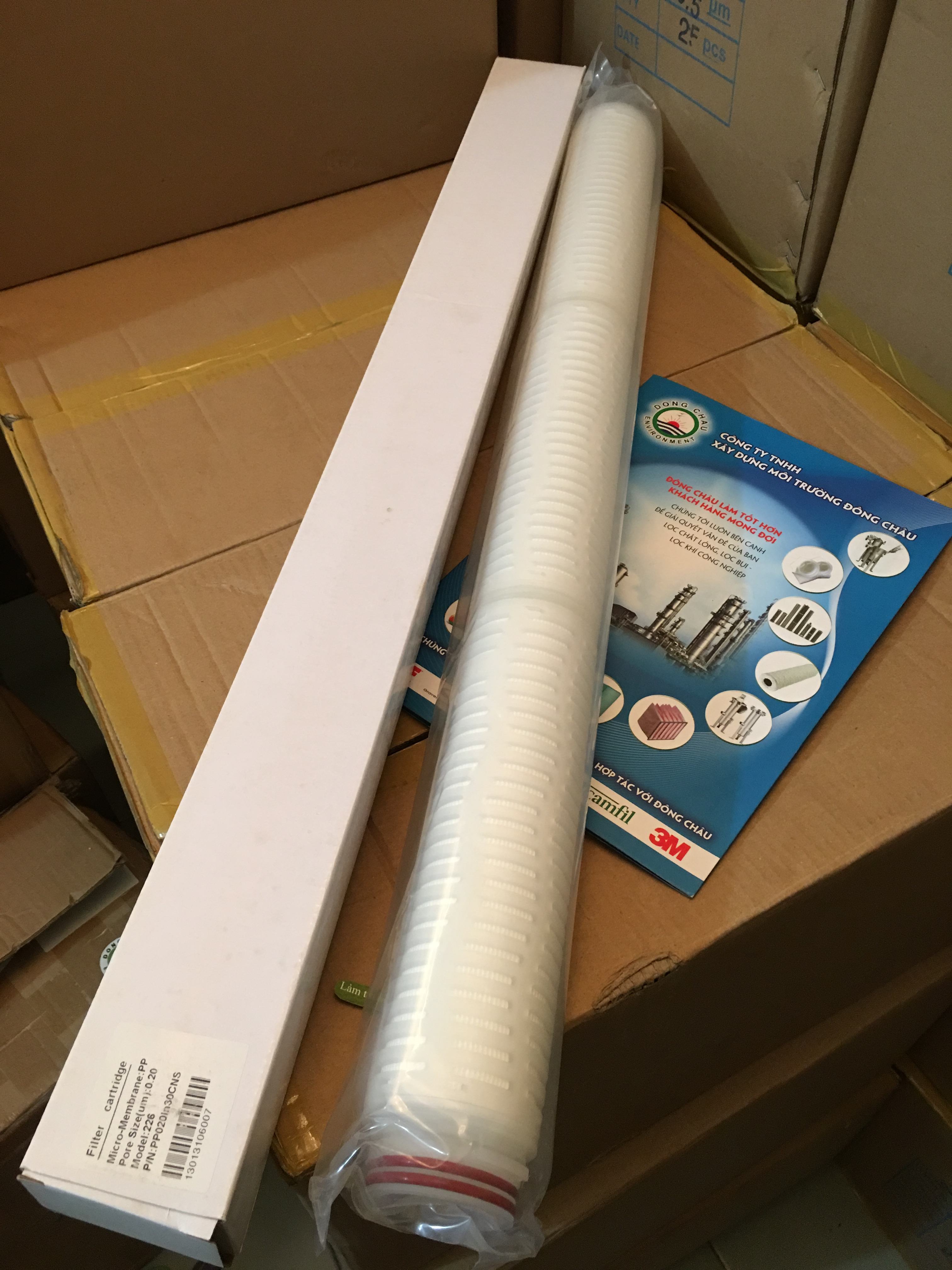 Lõi lọc giấy xếp 0.2 micron 30 inch oring 226