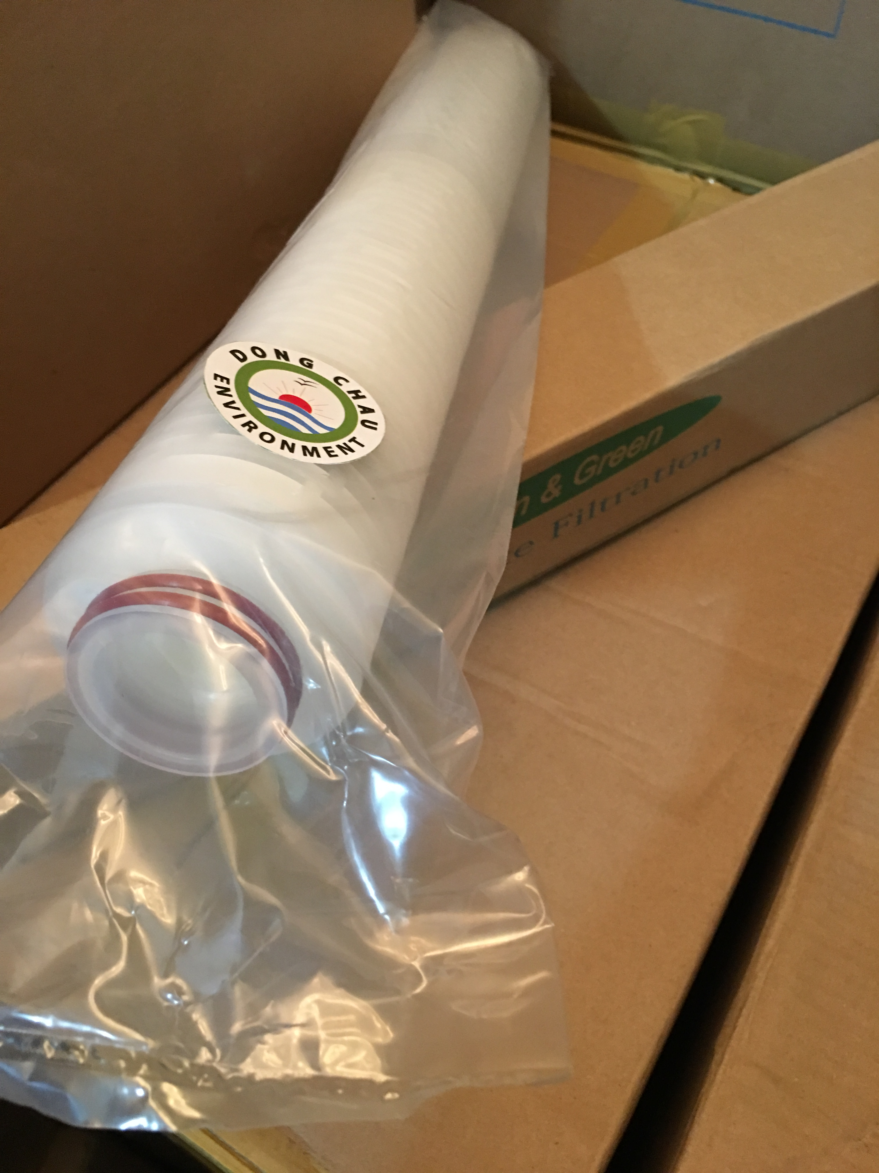Lõi lọc giấy xếp 1 micron 20 inch oring 222 Clean Green