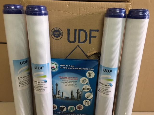 Lõi than hoạt tính UDF dạng hạt, vỏ nhựa 20 inch