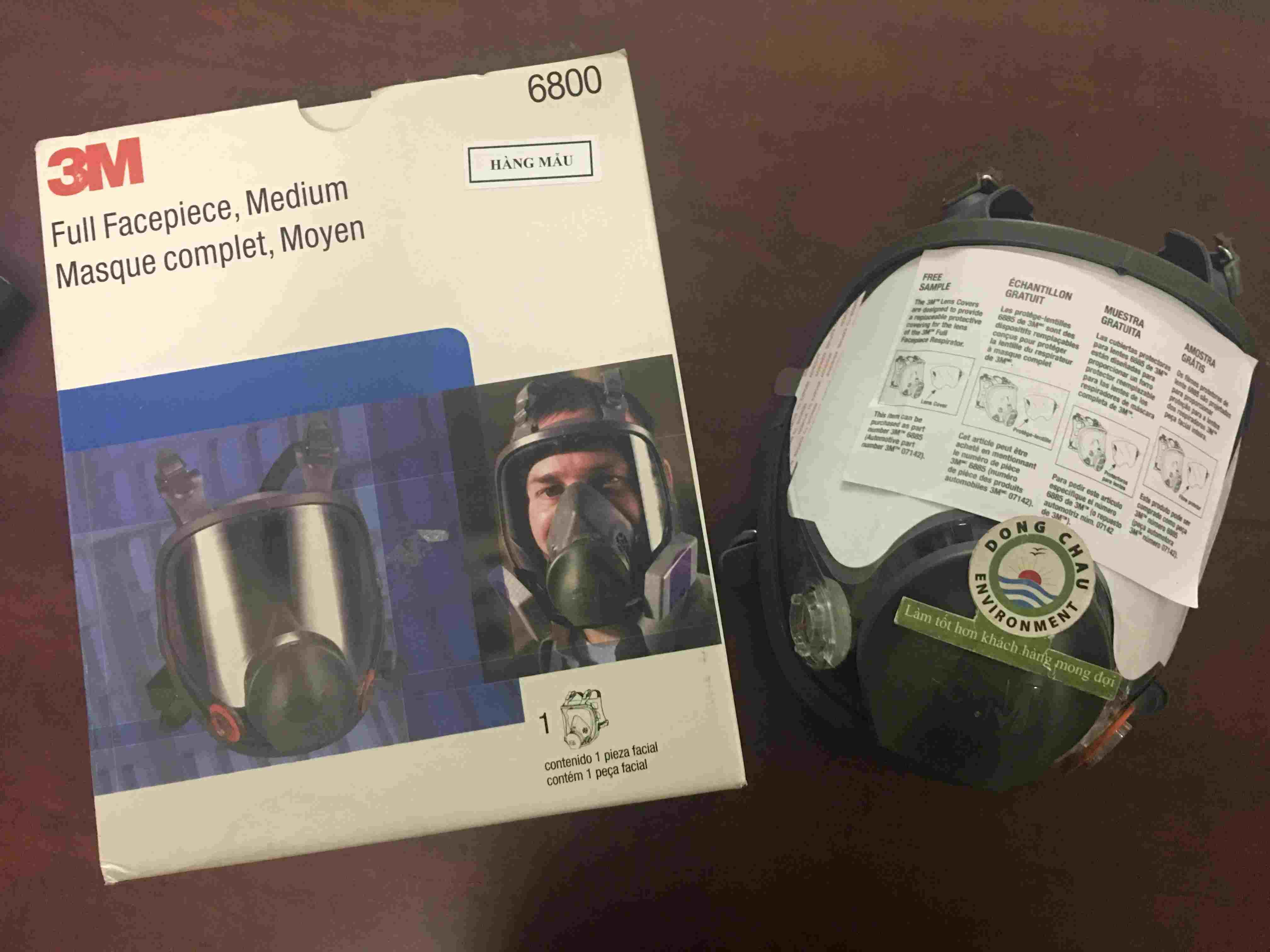 Mặt nạ bảo hộ chống độc toàn mặt 3M 6800