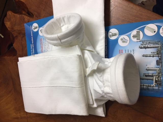 Túi vải PE500 lọc bụi gỗ, ximang, nhiệt điện