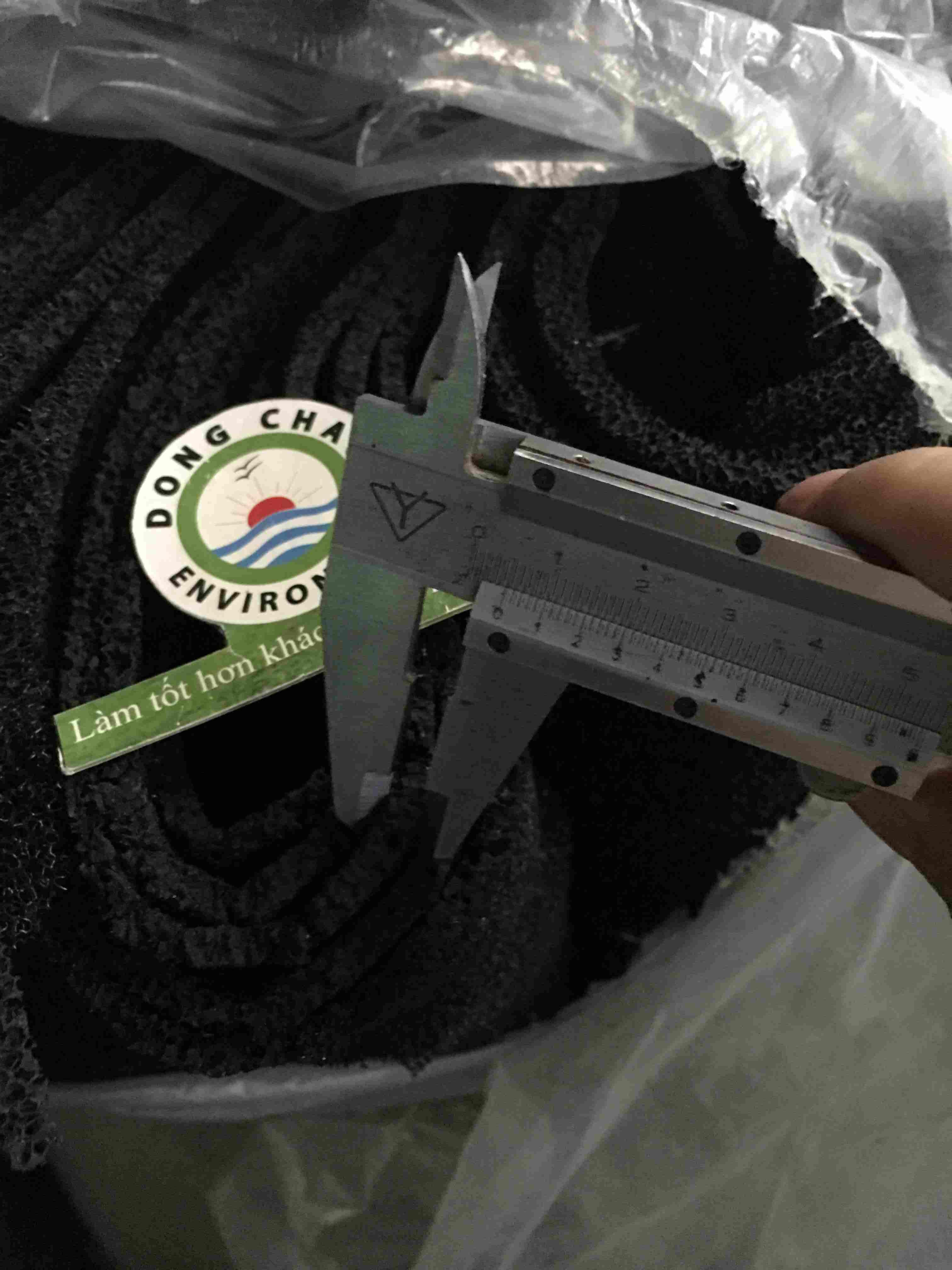 Xốp cacbon lọc khí khử mùi 5mm khổ 1m x 2m
