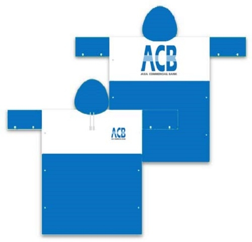 Áo mưa quảng cáo ACB