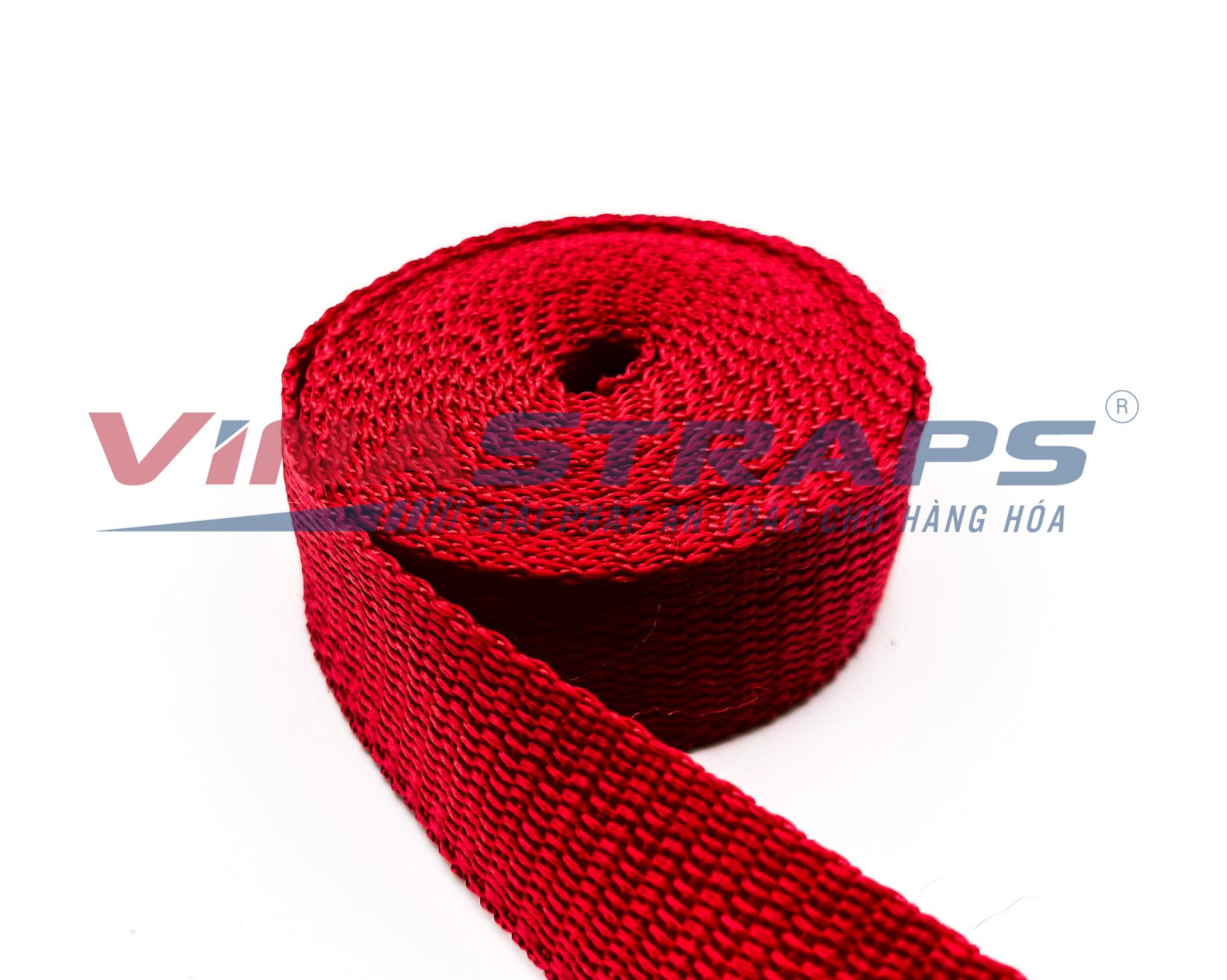 Dây đai pp bản 25mm màu đỏ