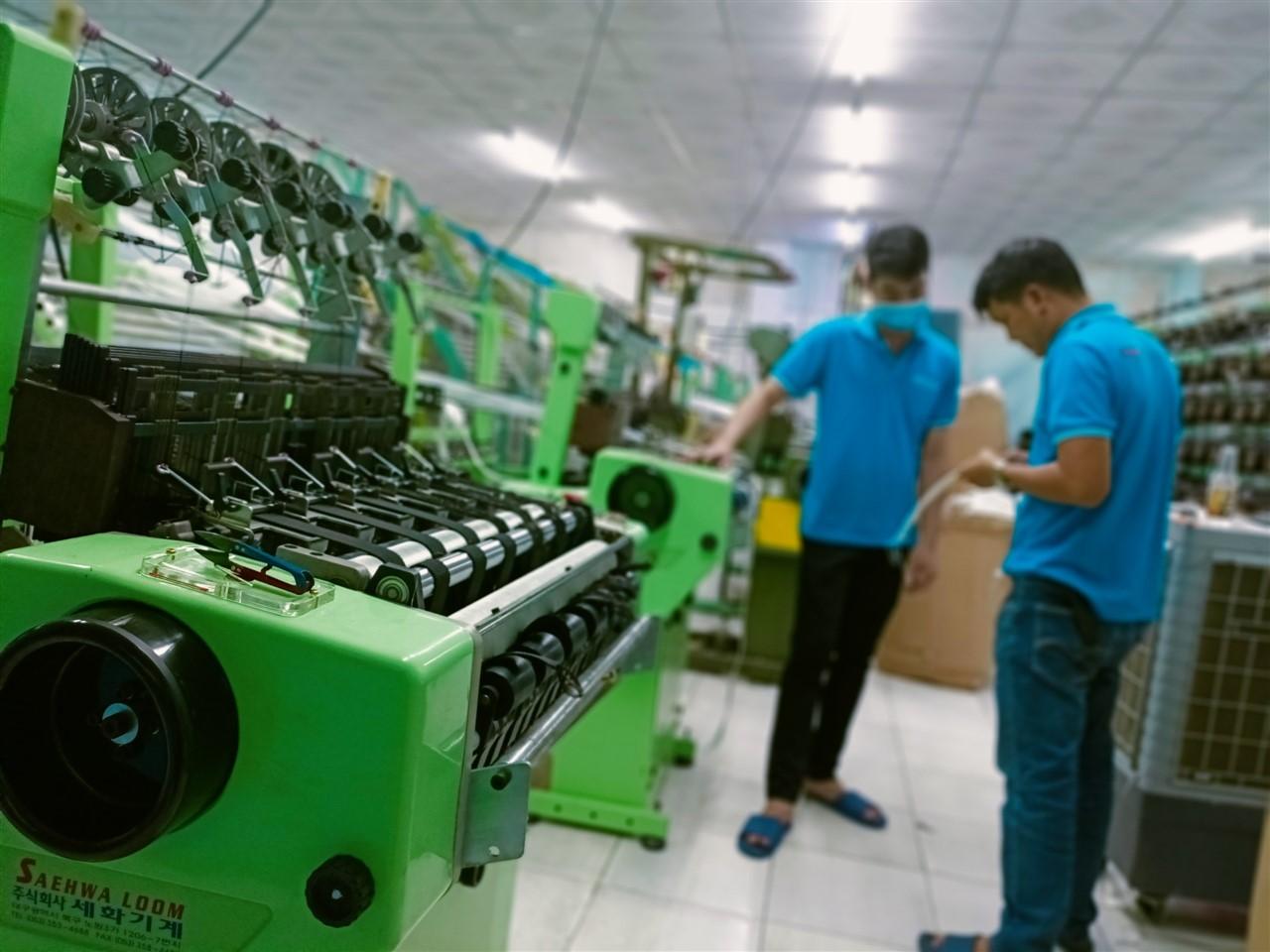Cơ sở sản xuất dây đai dệt polyester