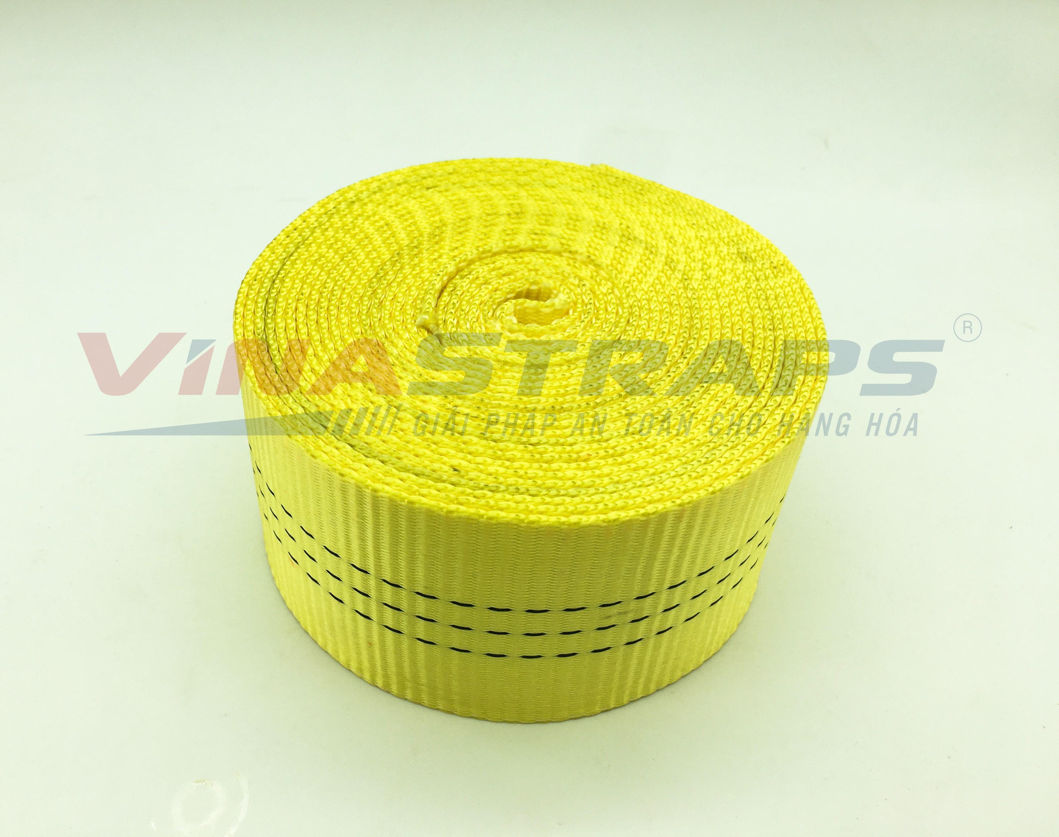 ? Dây đai polyester bản 75mm màu vàng 8 tấn ?